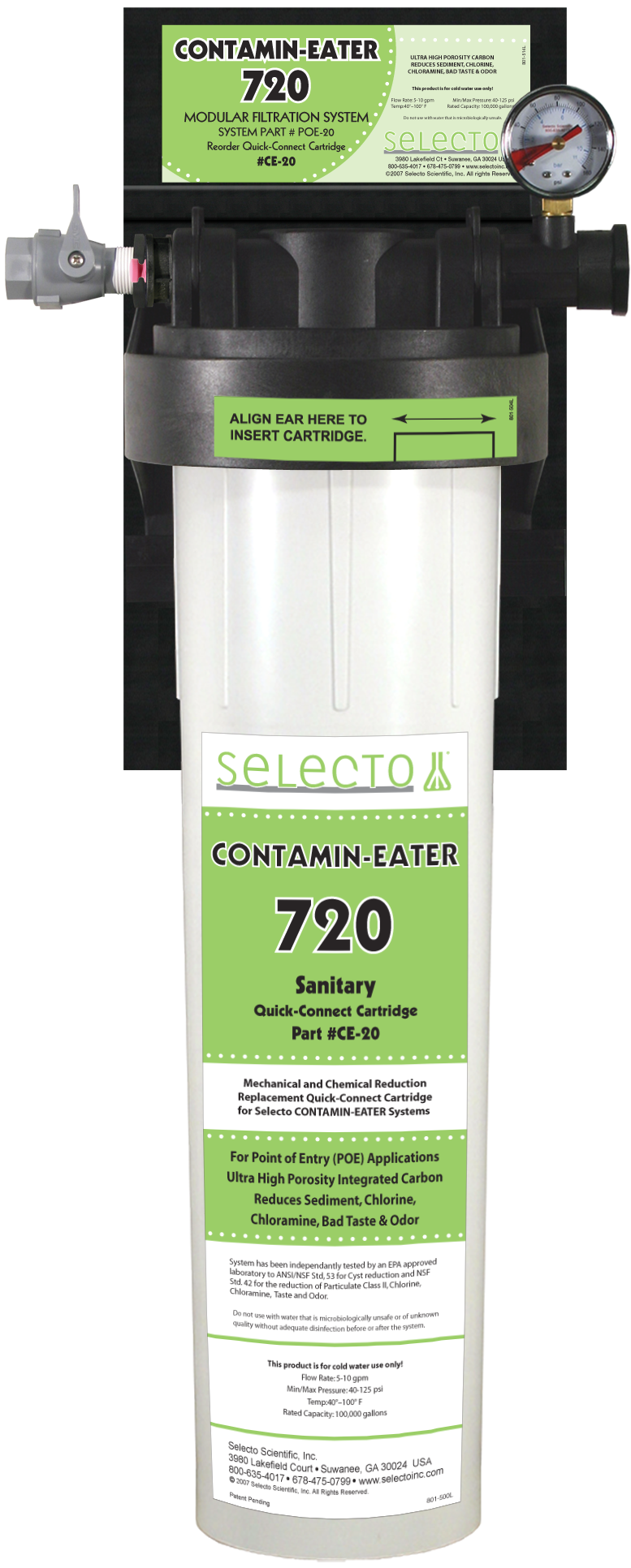Contamin-Eater 720 Whole House Water Filter by Selecto Scientific